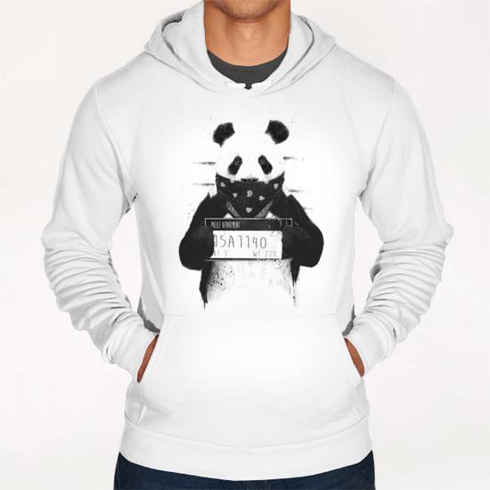 Bad panda Hoodie by Balazs Solti