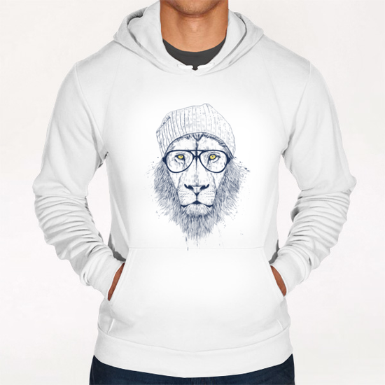 Cool lion Hoodie by Balazs Solti