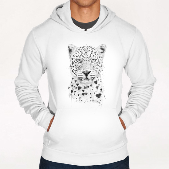 Lovely leopard Hoodie by Balazs Solti