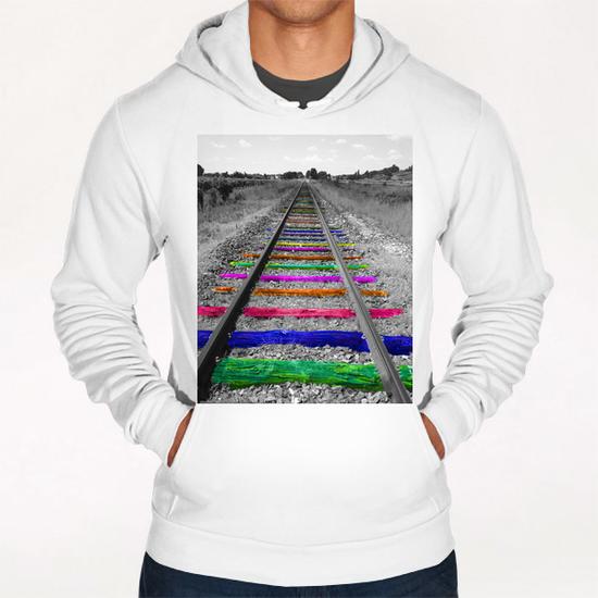 Rainbow Railway Hoodie by Ivailo K