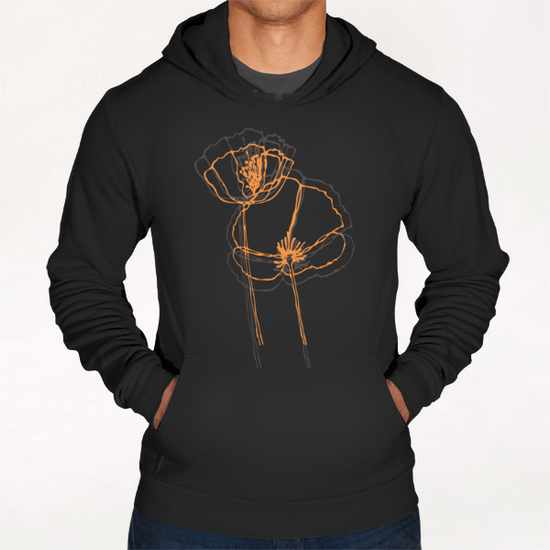 American Poppies 2 Hoodie by Vic Storia