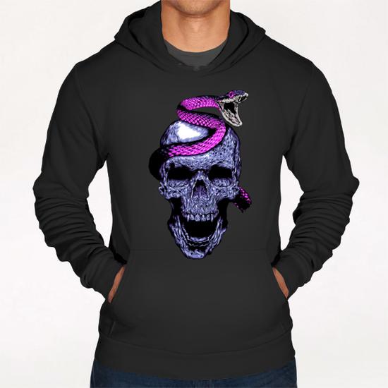 Skull and Snake Hoodie by Jordygraph