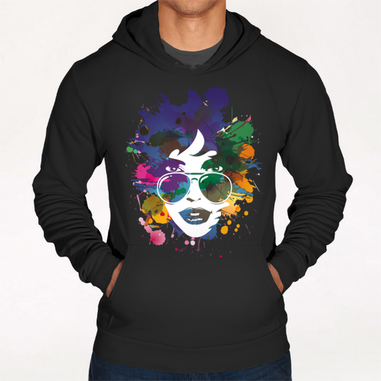 Femme à Lunettes... Hoodie by Vic Storia
