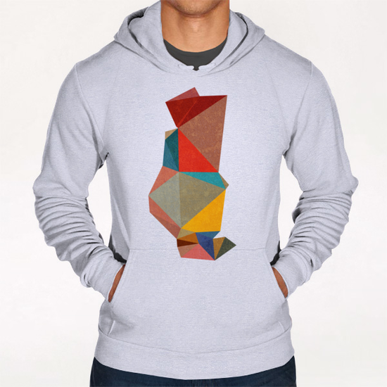 Abstract Pink Hoodie by Vic Storia