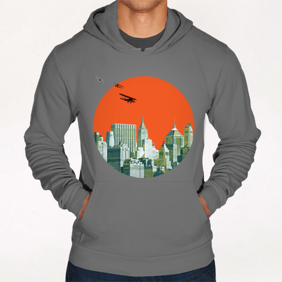 Red sun on NY Hoodie by tzigone