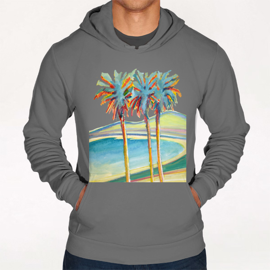 Palm Tree on the French Riviera Hoodie by Georgio Fabrello