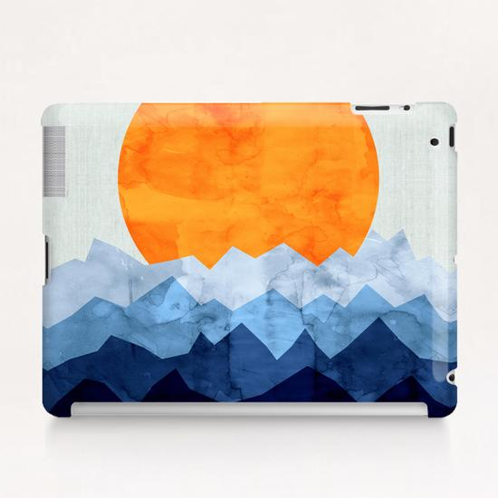 Watercolor landscape geometrica Tablet Case by Vitor Costa