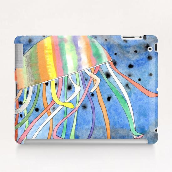 Rainbow Colored Jelly Fish  Tablet Case by Heidi Capitaine