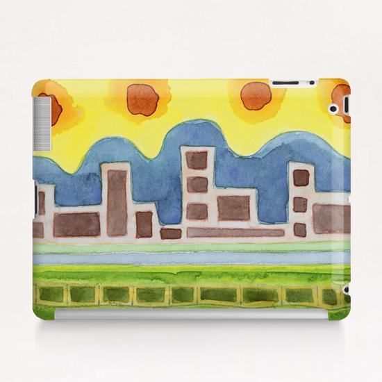 Surreal Simplified Cityscape  Tablet Case by Heidi Capitaine