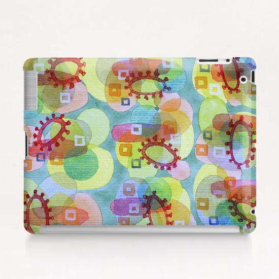 Lovely Pattern with Red Rings  Tablet Case by Heidi Capitaine