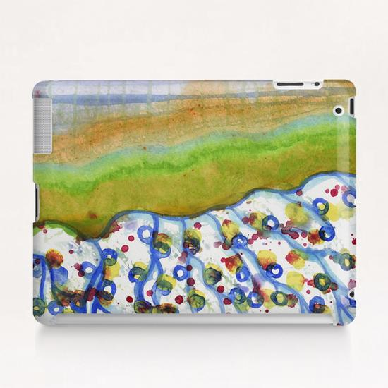 Curved Hill with Blue Rings Tablet Case by Heidi Capitaine