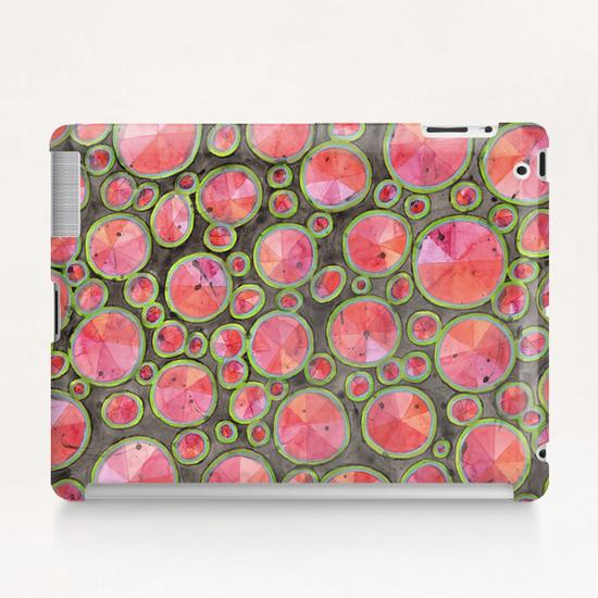 Big Red Circles Pattern  Tablet Case by Heidi Capitaine