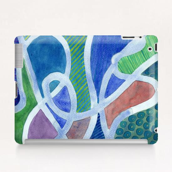Curved Paths Tablet Case by Heidi Capitaine