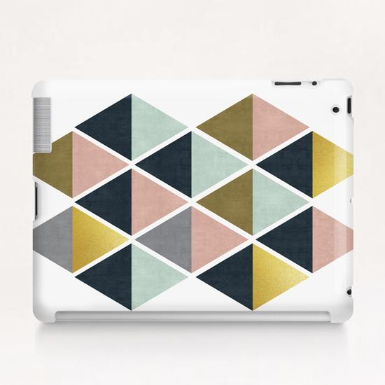 Colorful and golden triangles Tablet Case by Vitor Costa