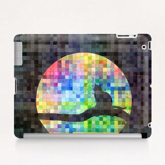 Cat In The Moon II Tablet Case by Vic Storia