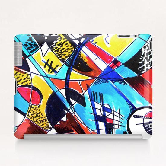 Construction rouge et bleue Tablet Case by Denis Chobelet