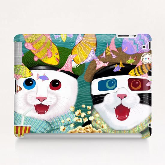 3D cats Tablet Case by Tummeow