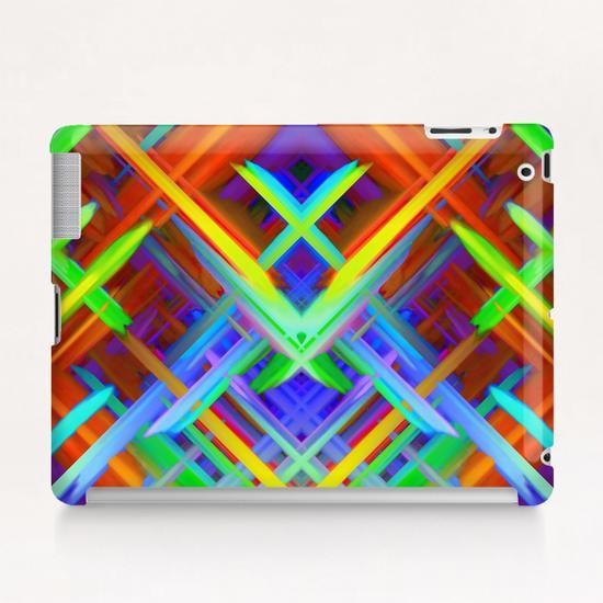 Colorful digital art splashing G466 Tablet Case by MedusArt