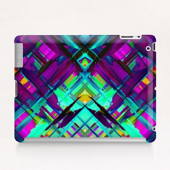 Colorful digital art splashing G472 Tablet Case by MedusArt