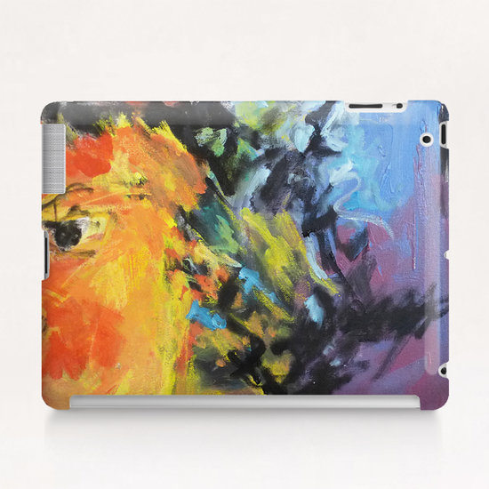 Lion Diptych - Right Tablet Case by Georgio Fabrello
