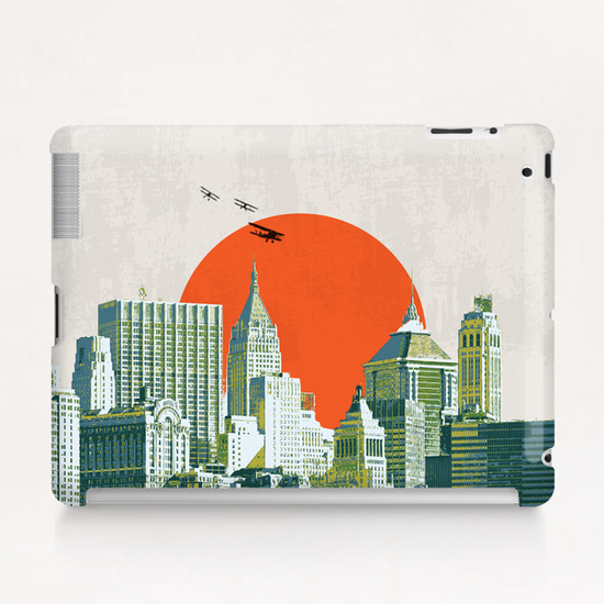 Red sun on NY Tablet Case by tzigone