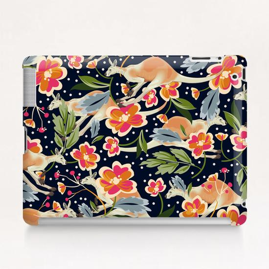 Pattern flowers and kangaroo Tablet Case by mmartabc