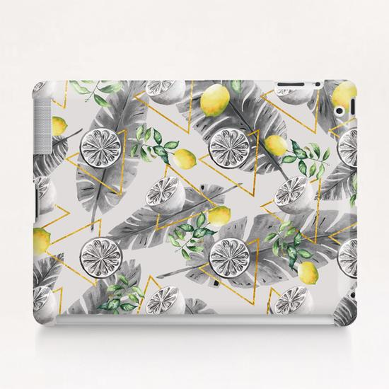 Pattern triangles with lemons Tablet Case by mmartabc