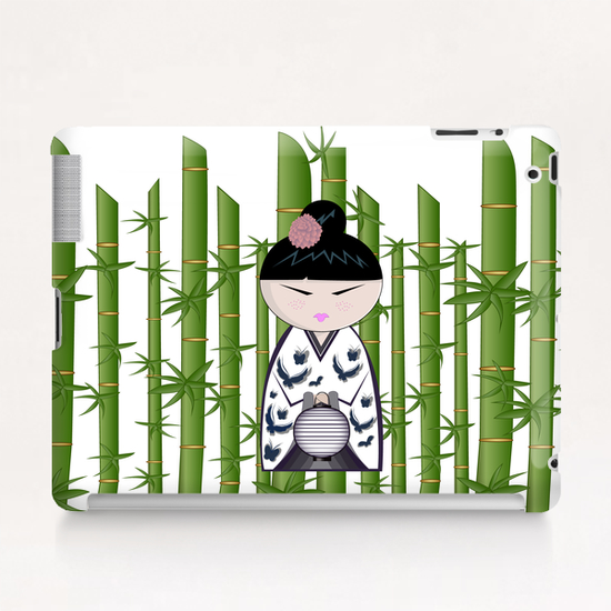 Bamboo kokeshi Tablet Case by PIEL Design