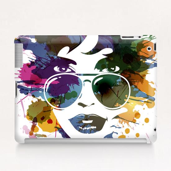 Femme à Lunettes... Tablet Case by Vic Storia