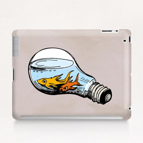 Fishes-Bulb Tablet Case by Georgio Fabrello