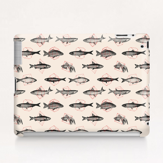 Fishes Repeat Tablet Case by Florent Bodart - Speakerine