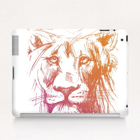 Lion Tablet Case by Georgio Fabrello