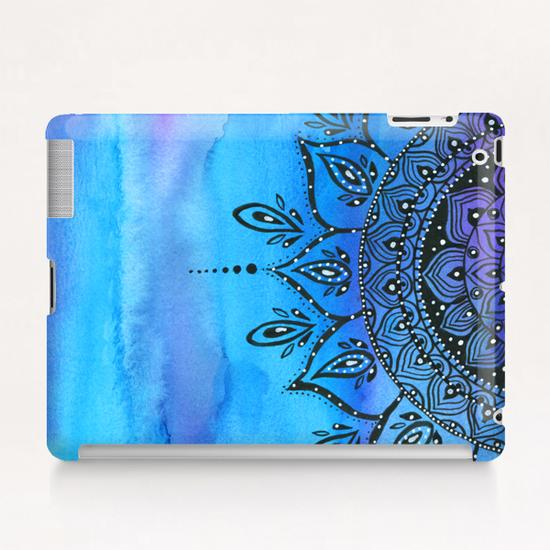 Blue Mandala Tablet Case by Li Zamperini