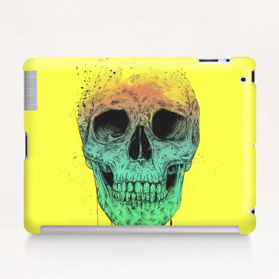 Pop art skull Tablet Case by Balazs Solti