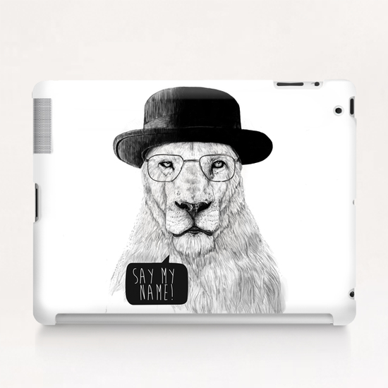 Say my name Tablet Case by Balazs Solti