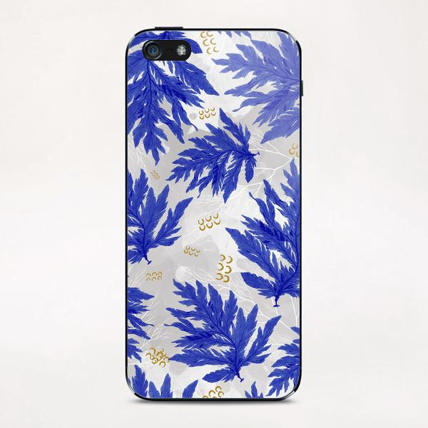 Coral Blue iPhone & iPod Skin by mmartabc