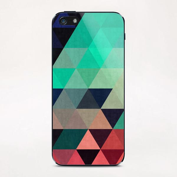 Pattern cosmic triangles I iPhone & iPod Skin by Vitor Costa