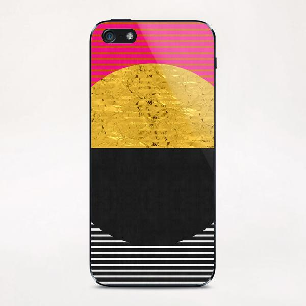 Geometric and golden art iPhone & iPod Skin by Vitor Costa