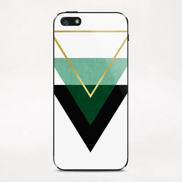 Geometric and golden art I iPhone & iPod Skin by Vitor Costa