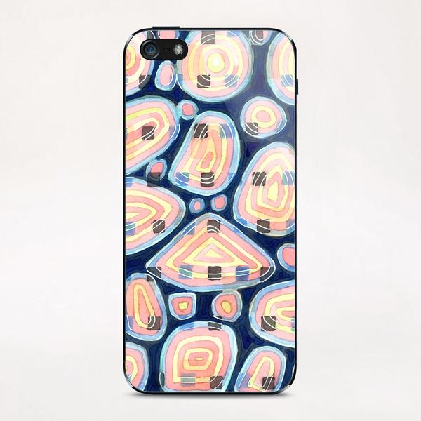 . Woven Squares and Round Shapes Pattern  iPhone & iPod Skin by Heidi Capitaine