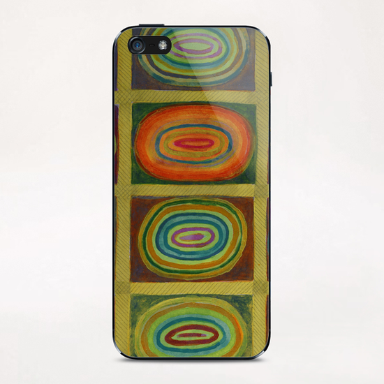 Ringed Ovals within Hatched Grid iPhone & iPod Skin by Heidi Capitaine