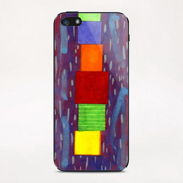 Colorful piled Cubes within free Painting iPhone & iPod Skin by Heidi Capitaine