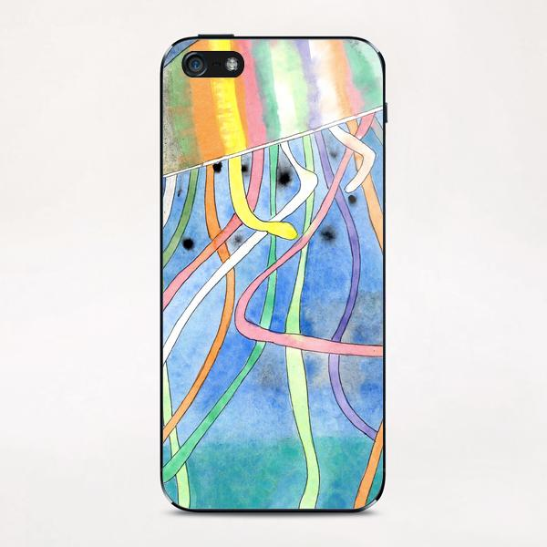 Rainbow Colored Jelly Fish  iPhone & iPod Skin by Heidi Capitaine