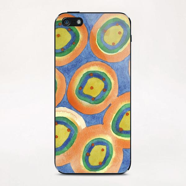 . Merry Circles arranged  to a big Circle  iPhone & iPod Skin by Heidi Capitaine