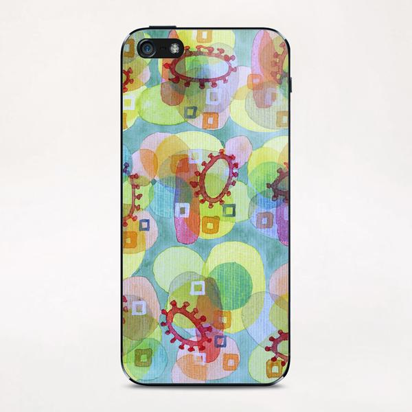 Lovely Pattern with Red Rings  iPhone & iPod Skin by Heidi Capitaine