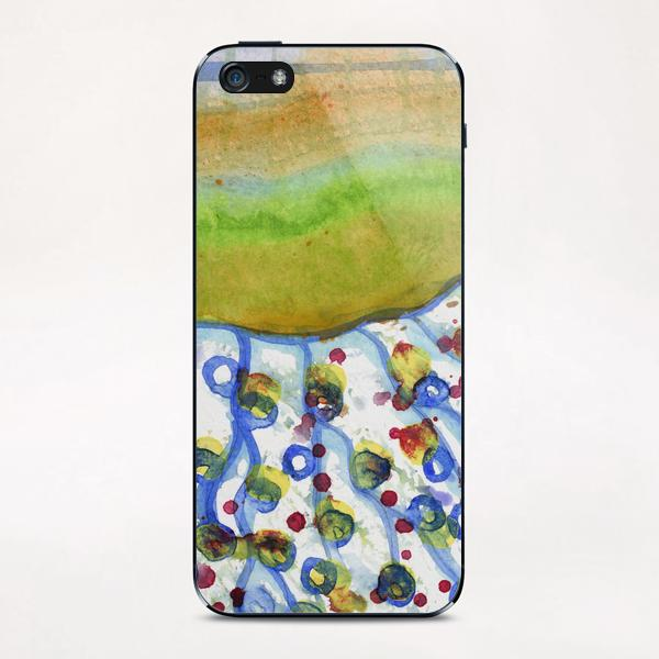 Curved Hill with Blue Rings iPhone & iPod Skin by Heidi Capitaine