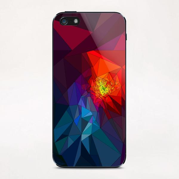 Colorful Triangles iPhone & iPod Skin by PIEL Design