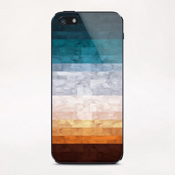 Minimalist landscape watercolor iPhone & iPod Skin by Vitor Costa