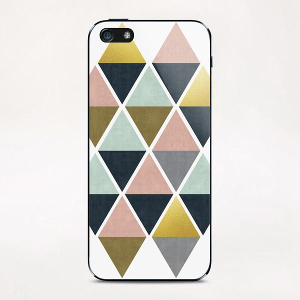 Colorful and golden triangles iPhone & iPod Skin by Vitor Costa