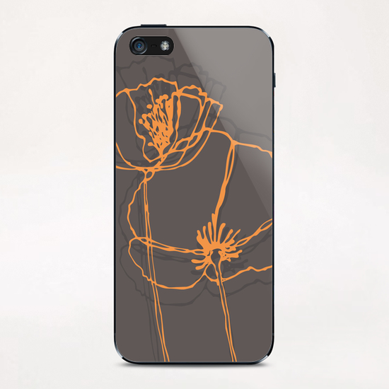American Poppies 2 iPhone & iPod Skin by Vic Storia